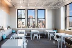 more seating under against wall/under windows