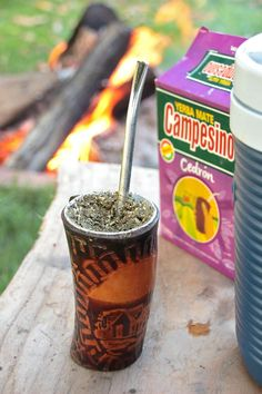 It doesnt get much better than an ice cold tereré (traditional yerba mate) and a fire at the end of the day. Loko, Gourd, Afternoon Tea, Earn Money, Candle Jars, Wander, Traditional, Photography, Zombie Cartoon