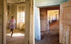 Doorways lead to more doorways and yet more doorways. with the sand slowly repossessing the rooms, at Kolmanskop. Christmas 2014, Ghost Towns, Summer Travel, Doorway, Journals, Rooms, Entrance, Bedrooms, Entryway