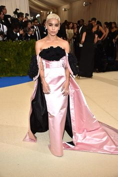 Zoe Kravitz in Oscar de la Renta at The Met Gala 2017.
