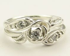 Silver Tea Rose Wedding Set Made to Order by wexfordjewelers.