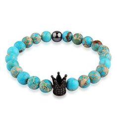 """Royal Buddha Turquoise Bracelet"" 👉www.poshmenclub.com 🔎Royal Buddha Turquoise  https://poshmenclub.com/collections/bracelet/products/royal-buddha-turquoise-bracelet-black-crown?variant=30664764305"