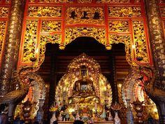 Bai Dinh Pagoda near Ninh Binh (north Vietnam)  #ninhbinh #vietnam #vietnamtrip #asia #asiatrip #ig_asia_ #ig_vietnam #instavietnam #adventurethatislife #adventureculture #adventurevisuals #cloudy  #amazingplace #amazingview  #temple #baidinh #pagoda #gold #buddha #goldensofinstagram #golden Re-post by Hold With Hope
