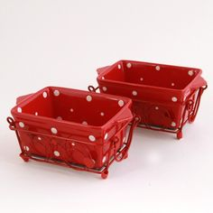temp-tations® by Tara: temp-tations® Polka Dot Oven-to-Table Set of Two 1 Quart Loaf Pans $19.96