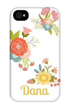 Come shop this Floral Personalized iPhone 4 Tough Case at http://www.putacaseon.me/products/floral-personalized-iphone-4-tough-case . Using our custom case tool you can design your case exactly how you want it.
