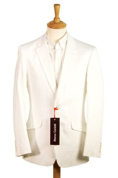 NEW - Miami Vice Mens White Suit - Cotton - Top Quality | eBay