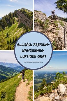 "Hiking in the Allgäu is a nice short vacation. In addition to simple hiking trails, there are also more demanding ones such as the premium hiking trail ""Luftiger Grat"". My absolute highlight in the Allgäu! # allgäu Hiking in Camping And Hiking, Hiking Trails, Europe Travel Tips, Travel Destinations, Africa Destinations, Travel Hacks, Short Vacation, Vacation Travel, Countries To Visit"