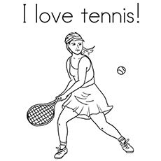 girl loves tennis coloring page