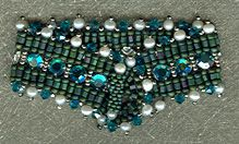 Pearls by the Sea   Tropical breezes and drinks by the sea are all you need to go along with this bracelet. Presented on Bead Cruise 2006