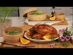 Delicious Orange and Soya Roasted Chicken, made using a hand #Knorr Chicken Stock Pot.#Video