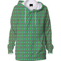 Green Pattern Hoodie from Print All Over Me