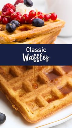 Classic Waffles The last Waffle recipe you will ever need! Classic Waffle Recipe, Best Waffle Recipe, Waffle Recipes, Easy Cake Recipes, Easy Desserts, Cookie Recipes, Dessert Recipes, Waffle Recipe From Scratch, Waffel Vegan