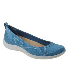 Look at this Earth Origins Moroccan Blue Leather Cara Flat on #zulily today!