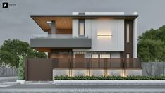 Rajwani House on Behance Modern Small House Design, Modern Exterior House Designs, Modern House Facades, Modern Villa Design, Minimalist House Design, Contemporary Home Exteriors, 3 Storey House Design, Bungalow House Design, Two Storey House