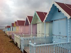 I have always wanted my very own beach hut. Maybe one day? Beach huts in Essex, England Cabana, Beach Day, Miami Beach, Ocean Beach, Beach Shack, Beach Huts, British Seaside, Am Meer, Beach Cottages