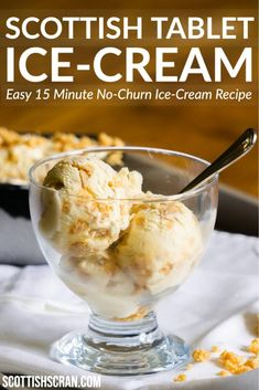 How to Make Easy No-Churn Ice-Cream with Scottish Tablet flavouring   Scottish Tablet Ice Cream   Scottish Desserts   Traditional Scottish Recipes   Easy Ice Cream   Tablet Ice Cream   Condensed Milk Ice Cream   Scottish Tablet Desserts Scottish Desserts, Irish Desserts, Scottish Recipes, Ice Cream Desserts, Irish Recipes, Frozen Desserts, Ice Cream Recipes, Frozen Treats, Condensed Milk Ice Cream