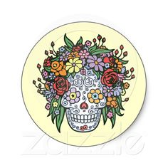Stickers from zazzle #diadelosmuertos #sugarskull