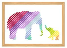 Hey, I found this really awesome Etsy listing at https://www.etsy.com/listing/257213820/elephant-cross-stitch-pattern-silhouette