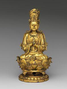 Buddha Vairocana (Dari), 11th century, Liao dynasty (907-1125), gilt bronze, lost wax cast, China
