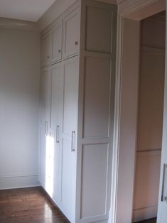 Floor to ceiling cabinets- small on top