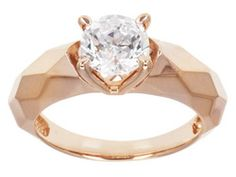 Remy Rotenier For Bella Luce (R) 2.17ct Remy Cut Round Eterno (Tm) Rose Ring (1.28ctw Dew)