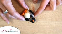 Pinguin-Fingerfood aus Mozzarella