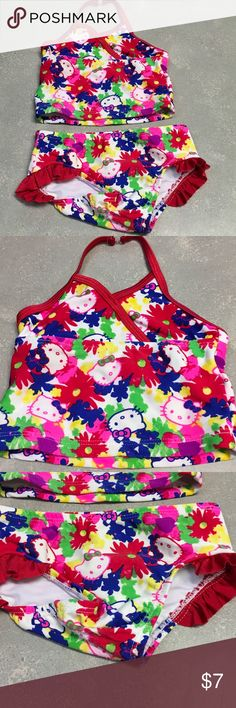 4 for $20. Hello Kitty swimsuit. Sz 18 mo Excellent condition. Cute tankini. I am an established Posh seller check out my other closet @Shanesmom2 Hello Kitty Swim Bikinis