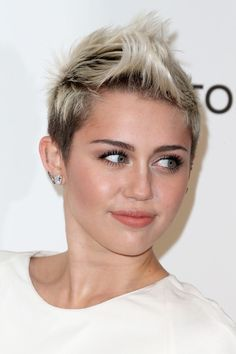 Image result for miley fauxhawk