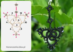 It has a kind of cool 'Victorian mourning jewellery' vibe to it, doesn't it? Black tatter pendent with pattern.