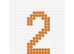 Kralenplank Cijfer 2