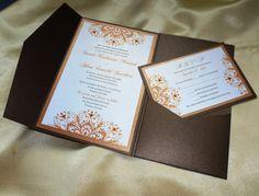 "Fall / Autumn  Wedding Invitation (sample) -""   Romantic  Autumn Forest """