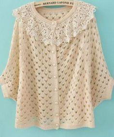 Ravelry: Crochet Sweater Jacket pattern by Chelle Grissam