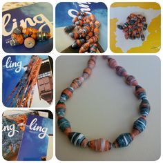 When you fly with @Vueling, you find Ling magazine on board, I like to read it and I like the paper they use... from old January cover to new paper beads! Check MiLova paper jewelry on Etsy https://www.etsy.com/it/shop/MiLova