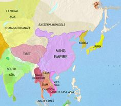 The real map of china here is the history map of east asia china korea japan 1453ad gumiabroncs Choice Image