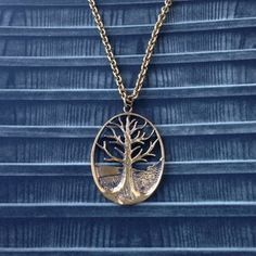brass tree necklace Tree Necklace, Boho Necklace, Boho Jewelry, Vintage Jewelry, Vintage Items, Pendant Necklace, Snake Earrings, Tree Pendant, Sterling Silver Filigree