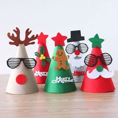 Cartoon Cute DIY Christmas Santa Claus Hat Caps Decorations New Year Handmade Favor Caps Christmas Gifts Party Supplies Kids Handmade Christmas Gifts, Christmas Paper, Christmas Love, Christmas Activities, Christmas Crafts For Kids, Xmas Crafts, Christmas Decorations, Paper Crafts, Christmas Ornaments