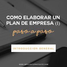 Cómo elaborar un plan de empresa paso a paso: Introducción general