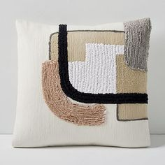 Our Line Study Pillow Cover is like an abstract painting rendered in soft, sustainably sourced cotton. An artful accent to your sofa or bed, it was made in a Fair Trade Certified™ facility, supporting better living and working conditions Cushion Inserts, Cushion Covers, Modern Throw Pillows, Decorative Pillows, Modern Pillow Covers, Custom Pillows, Line Study, Pillow Texture, Velvet Pillows