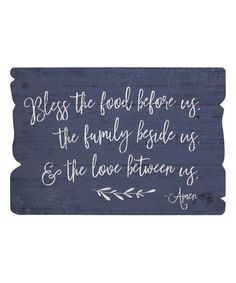 Sincere Surroundings Bless The Food Wall Sign | zulily
