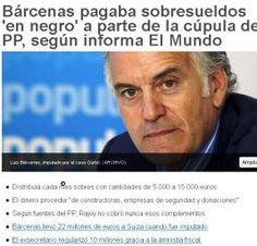 Caso Bárcenas hace referencia al caso judicial donde se investiga a Luis Bárcenas y su papel en la financiación del Partido Popular, uno de los principales partidos políticos de España en el periodo posterior a la Transición española.