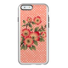 Flowers and polka dots pattern incipio feather® shine iPhone 6 case