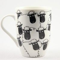Wacky Woollies Black Sheep Mug