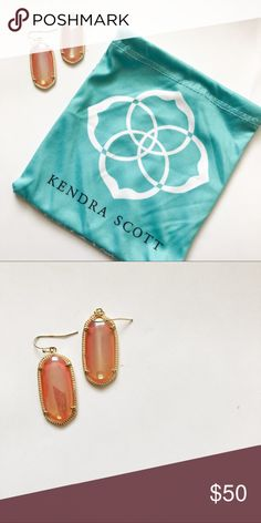Peach Kendra Scott Elle earrings rare color. Kendra Scott Elle earrings. Rare peach color.  Perfect for spring! Kendra Scott Jewelry Earrings