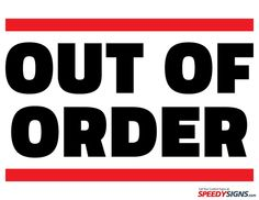 Impertinent image throughout out of order sign template