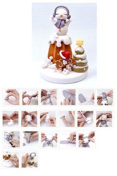 Snowman http://mycakedesign.deagostinipassion.it/speciali/pandoro-di-natale/