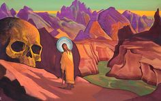 'Issa and the Skull of the Giant' By Nicholas Roerich 1932