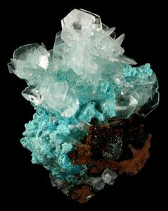 calcite on aurichalcite from mexico