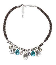 HM - Necklace dark grey