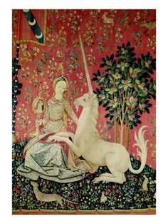 Detail from The Lady and the Unicorn: Sight Tapestry