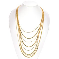 TAZZA GOLD LAYERED NECKLACES #SQ3831 -- Awesome products selected by Anna Churchill
